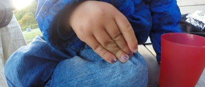 Purple Nails On Boy