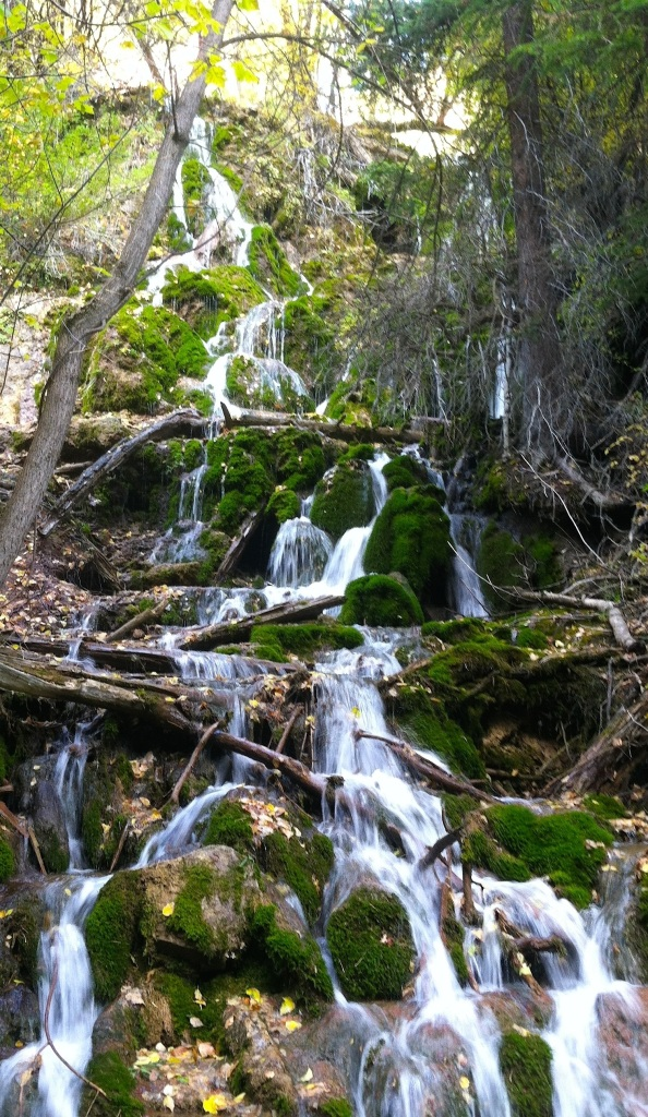Mini-falls from Hanging Lake trail