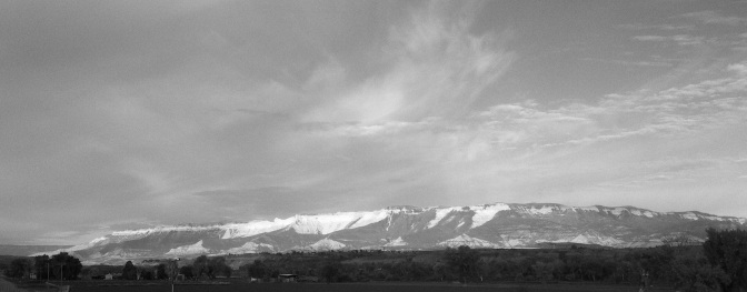 Black and White Snow Capped